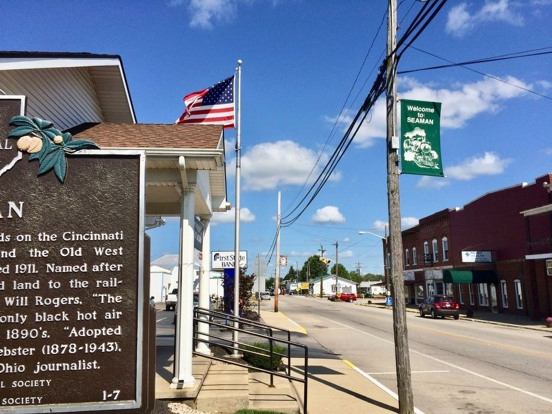 View north on Main Street of Seaman. image. Click for full size.