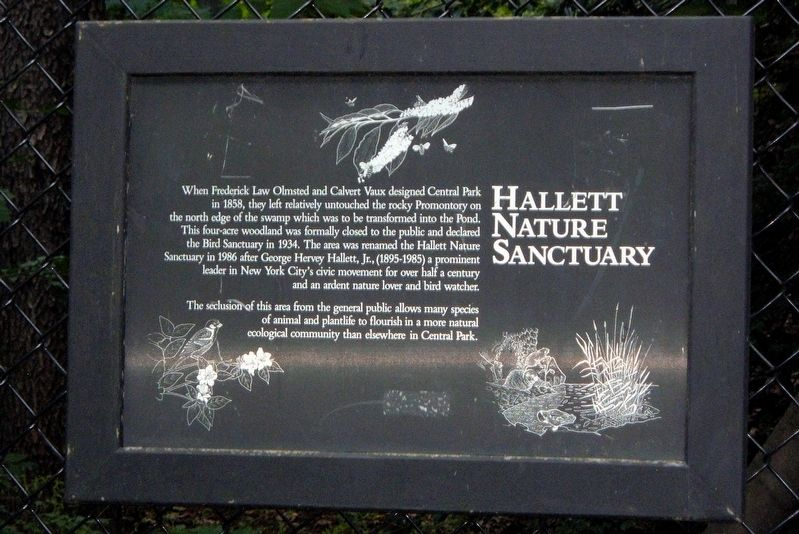 Hallett Nature Sanctuary Marker image. Click for full size.