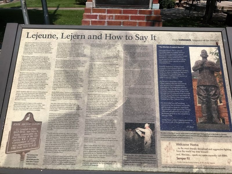 Lejeune, Lejern and How to Say it Marker image. Click for full size.