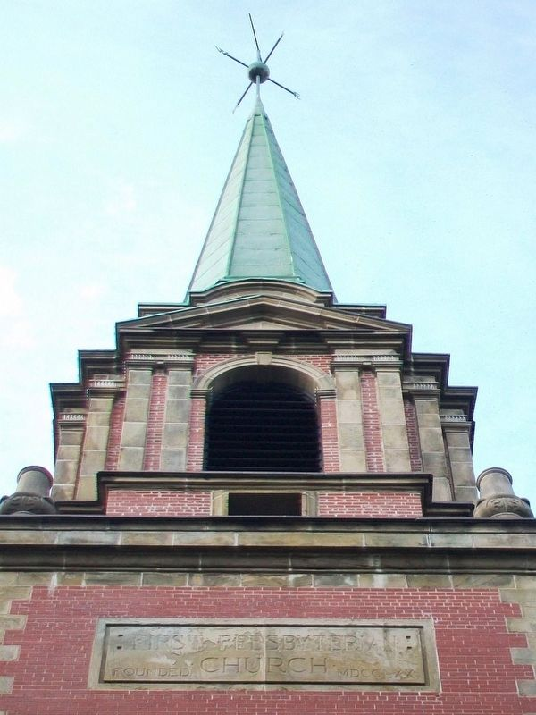 First Presbyterian/United Church Steeple image. Click for full size.