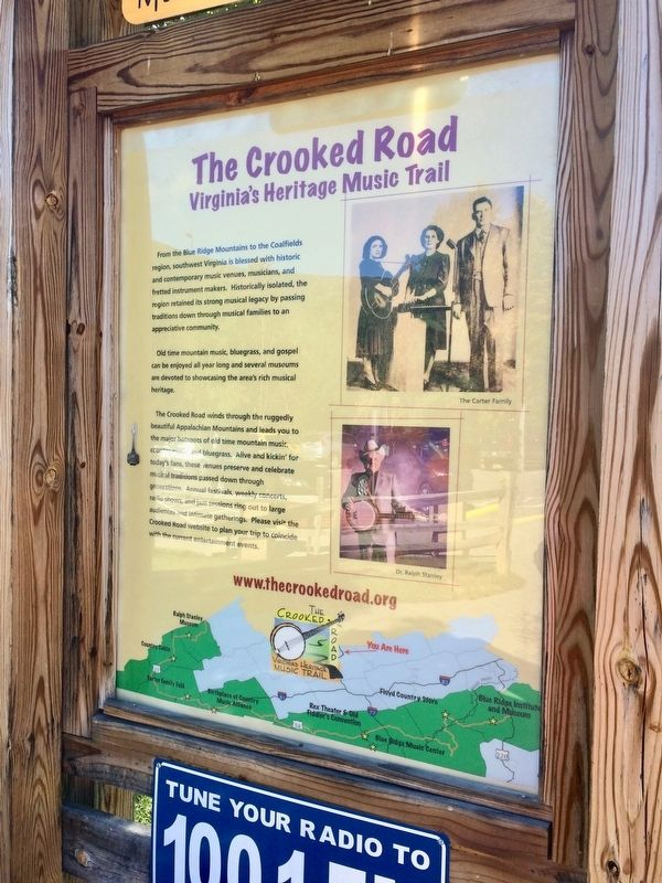 Close-up of the The Crooked Road Marker image. Click for full size.
