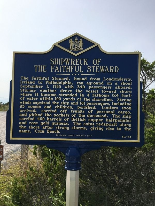 Shipwreck of the Faithful Steward Marker image. Click for full size.