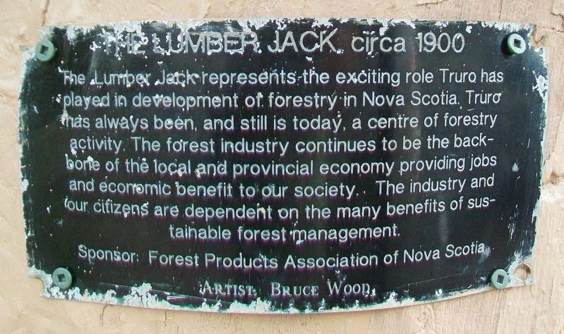 The Lumber Jack, circa 1900 Marker image. Click for full size.