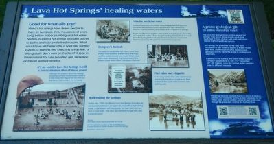 Lava Hot Springs' healing waters Marker image. Click for full size.