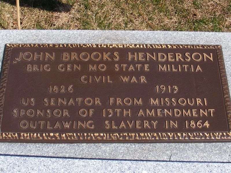 John Brooks Henderson Marker image. Click for full size.
