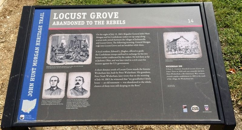 Locust Grove Marker image. Click for full size.
