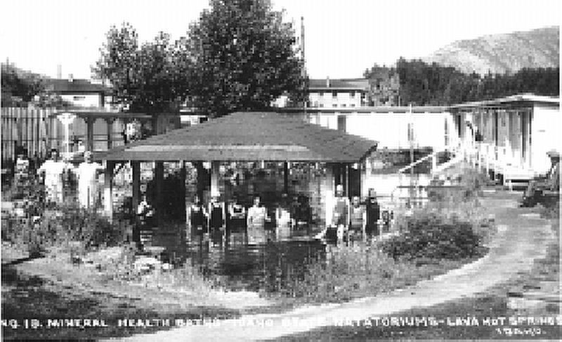 Mineral Health Baths, Idaho State Natatoriums, Lava Hot Springs, Idaho image. Click for full size.