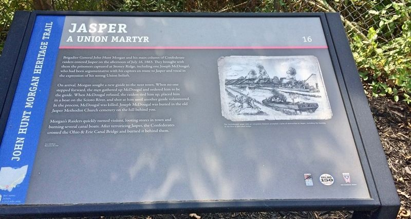Jasper Marker - A Union Martyr image. Click for full size.