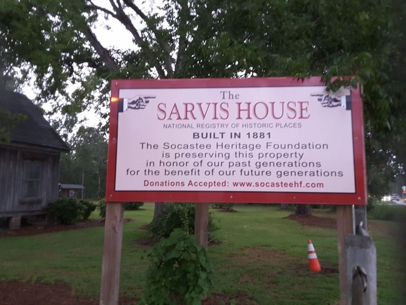 The Sarvis House Marker image. Click for full size.