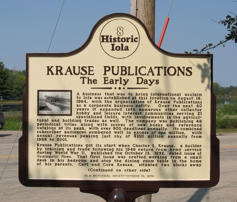 Krause Publications Marker image. Click for full size.