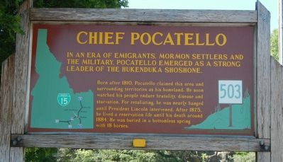 Chief Pocatello Marker image. Click for full size.