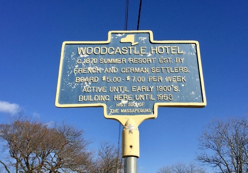 Woodcastle Hotel Marker image. Click for full size.