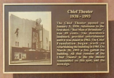 Chief Theater Marker image. Click for full size.