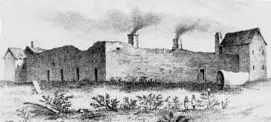 Fort Hall, 1849 image. Click for full size.