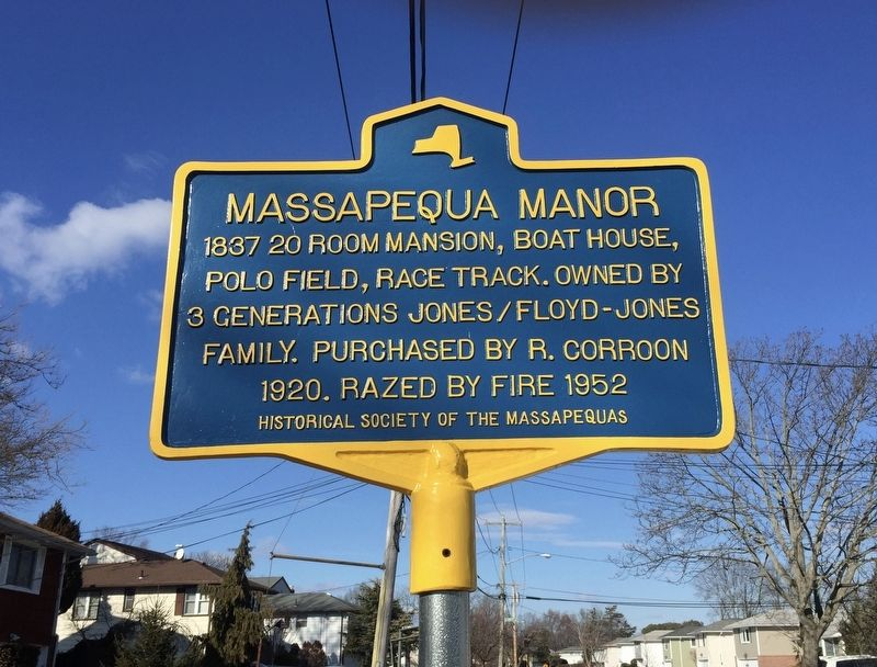 Massapequa Manor Marker image. Click for full size.