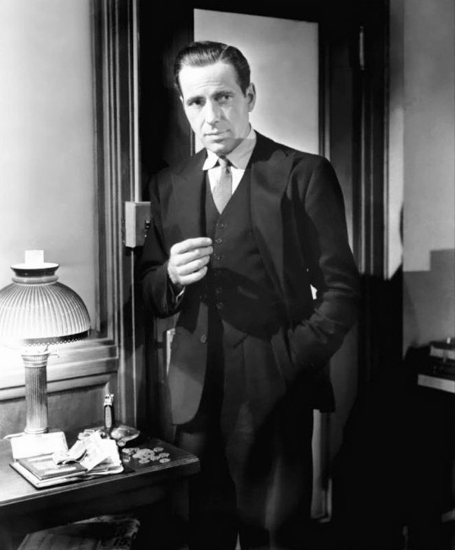 Sam Spade, as played by Humphrey Bogart image. Click for full size.