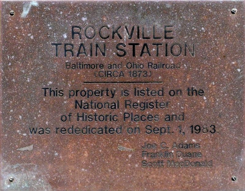 Rockville<br>Train Station image. Click for full size.