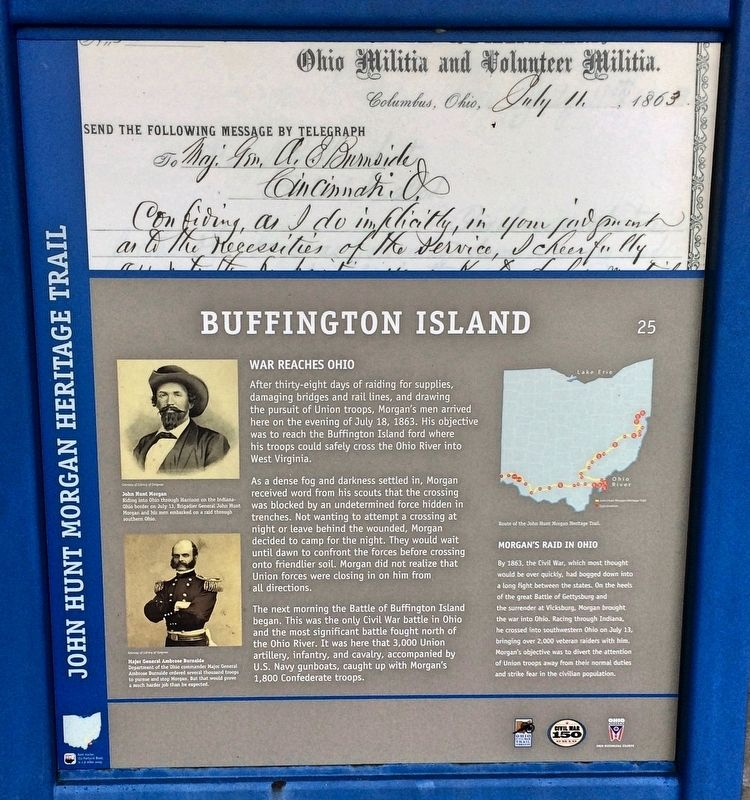 Buffington Island Marker image. Click for full size.