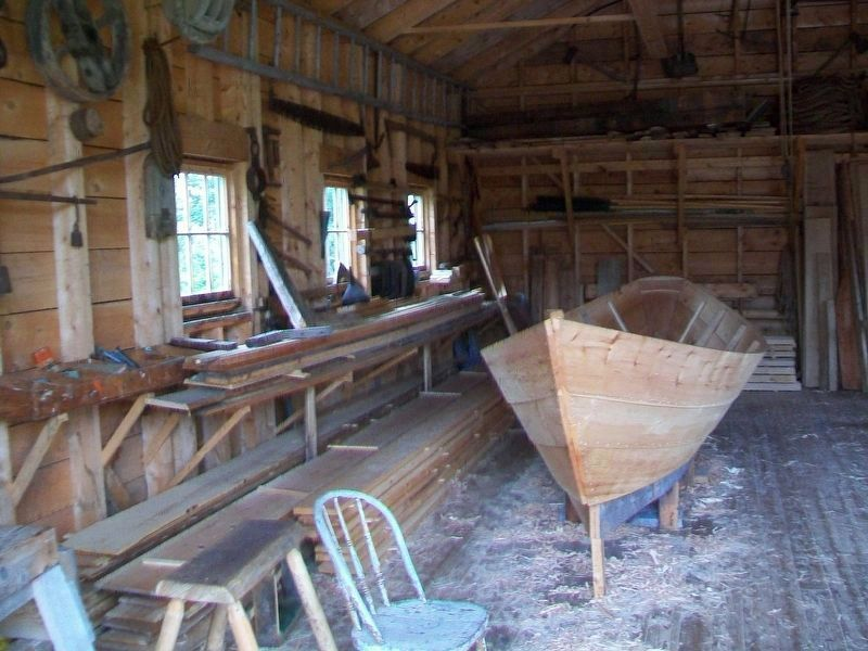 Dory Construction at the Reproduction Boat Shop image. Click for full size.