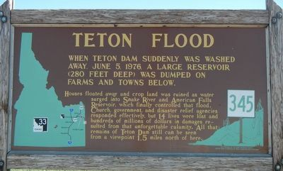 Teton Flood Marker image. Click for full size.