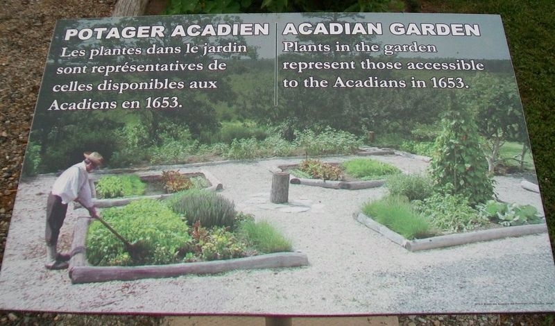 Potager Acadien / Acadian Garden Marker image. Click for full size.