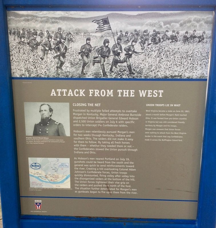 Attack from the West Marker image. Click for full size.