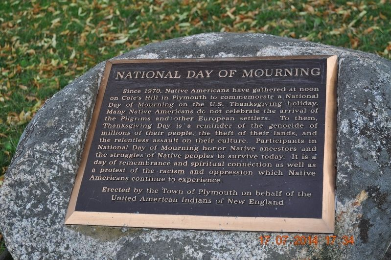 National Day of Mourning Marker image. Click for full size.
