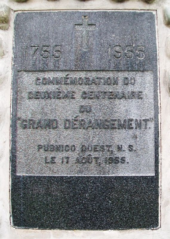 "200th Anniversary Commemoration of the ""Grand Deportation"" Marker image. Click for full size."