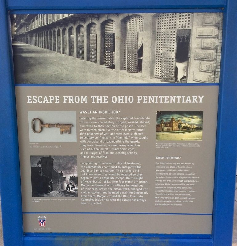 Escape from the Ohio Penitentiary Marker image. Click for full size.
