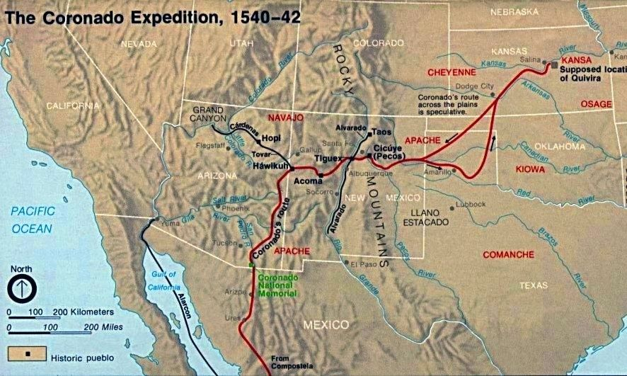The Coronado Expedition image. Click for full size.