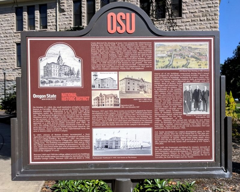 Oregon State University Marker image. Click for full size.