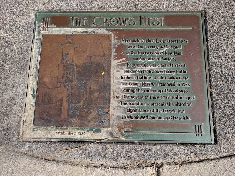 The Crow's Nest Marker image. Click for full size.