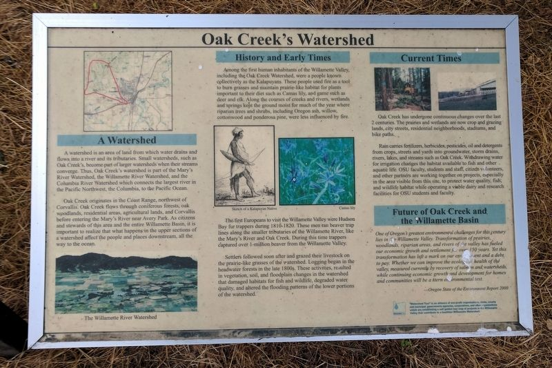 Oak Creek's Watershed Marker image. Click for full size.
