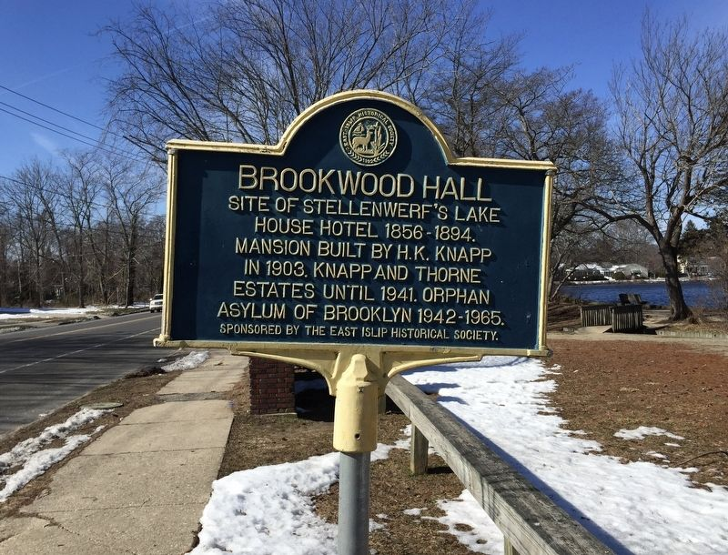 Brookwood Hall Marker image. Click for full size.