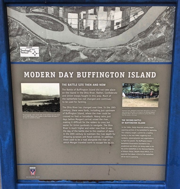 Modern Day Buffington Island Marker image. Click for full size.