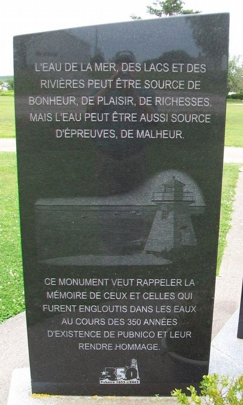 Perdu aux eaux / Lost to the Waters Marker image. Click for full size.