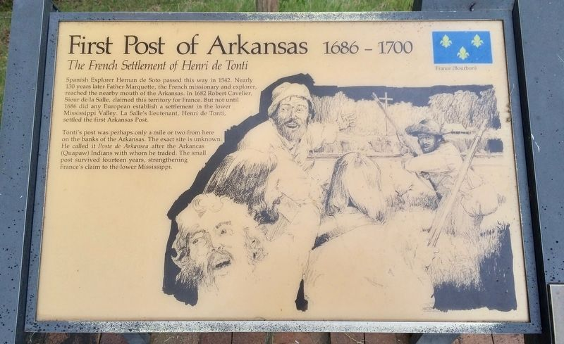 First Post of Arkansas Marker image. Click for full size.