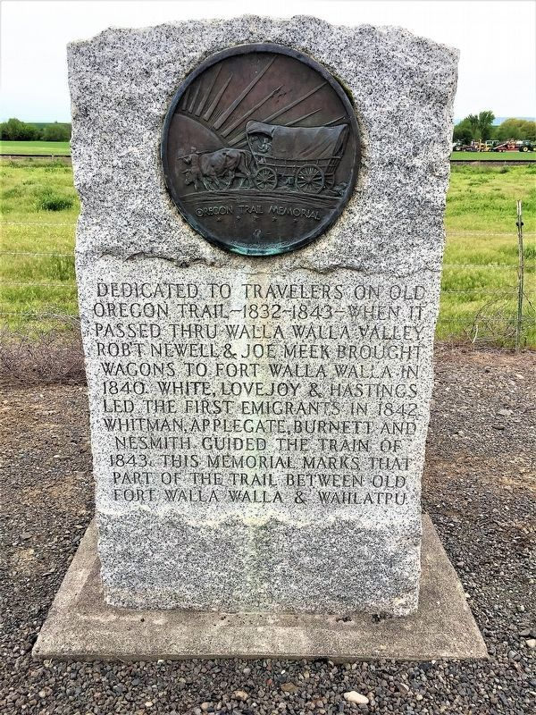Old Oregon Trail Memorial Marker image. Click for full size.