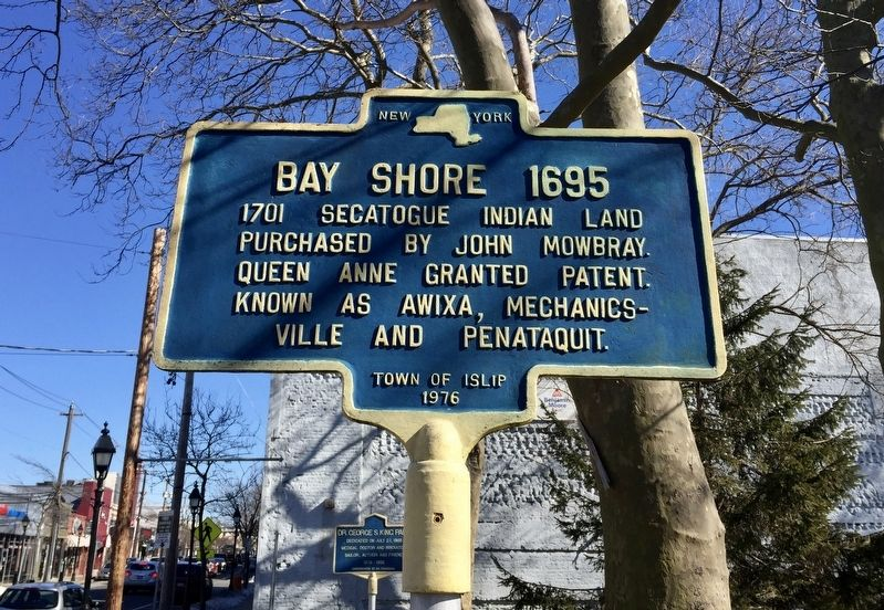 Bay Shore 1695 Marker image. Click for full size.