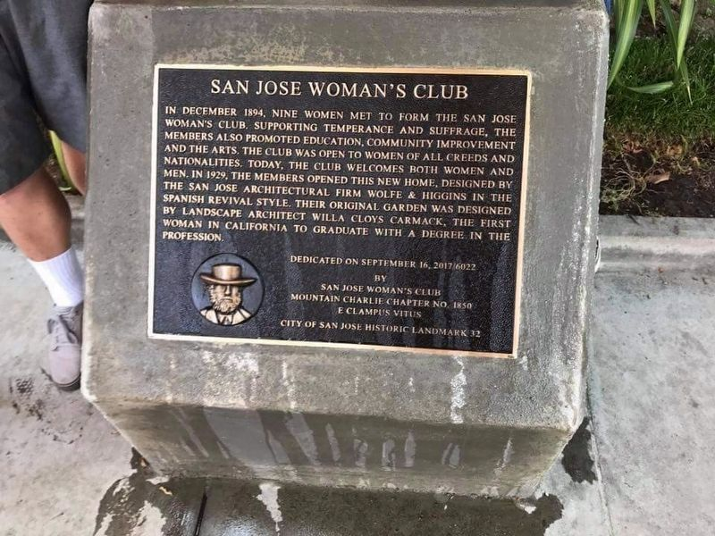 San Jose Woman's Club Marker image. Click for full size.