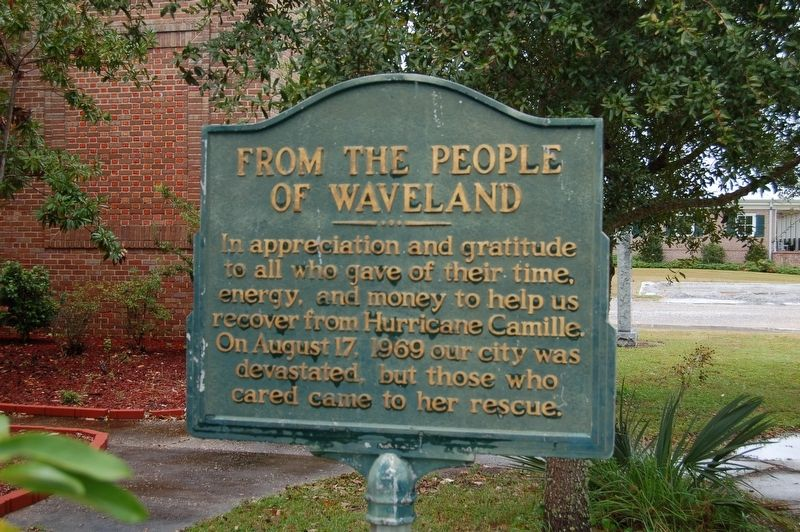 From the People of Waveland Marker image. Click for full size.