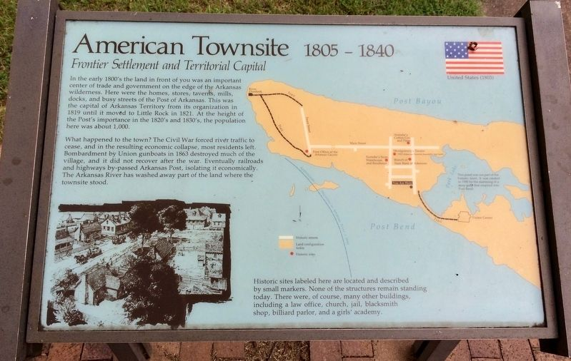 American Townsite Marker image. Click for full size.