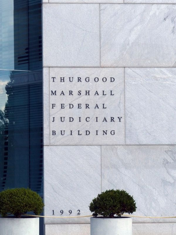 Thurgood Marshall Federal Judiciary Building<br>1992 image. Click for full size.