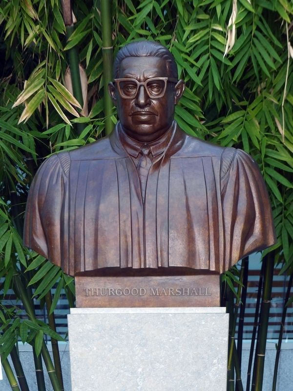 Thurgood Marshall<br>Bust Inside the Judiciary Building image. Click for full size.