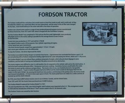 Fordson Tractor Marker image. Click for full size.
