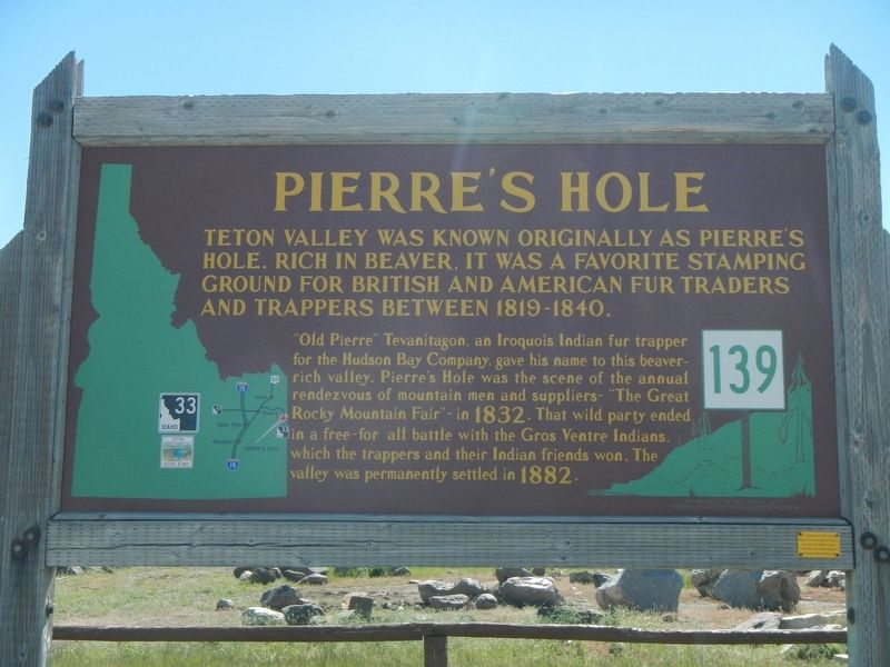 Pierre's Hole Marker image. Click for full size.