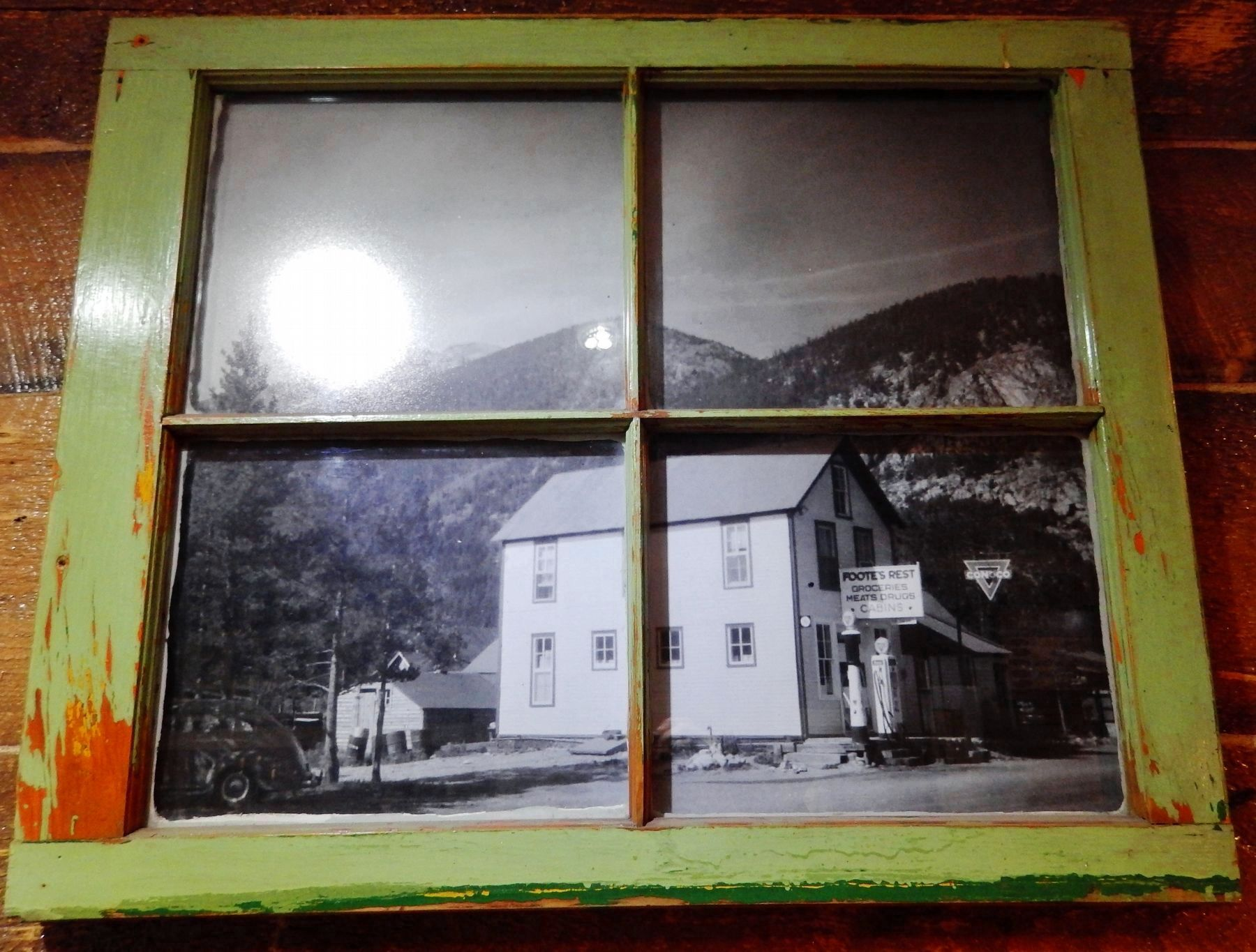 Photo of Foote's Rest circa 1950 (on display inside store) image. Click for full size.