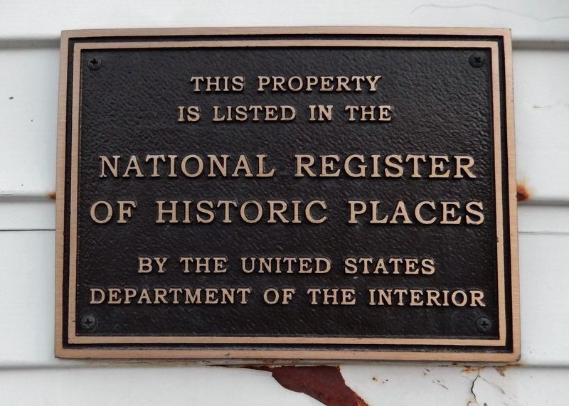 Foote's Rest - National Register of Historic Places placard image. Click for full size.