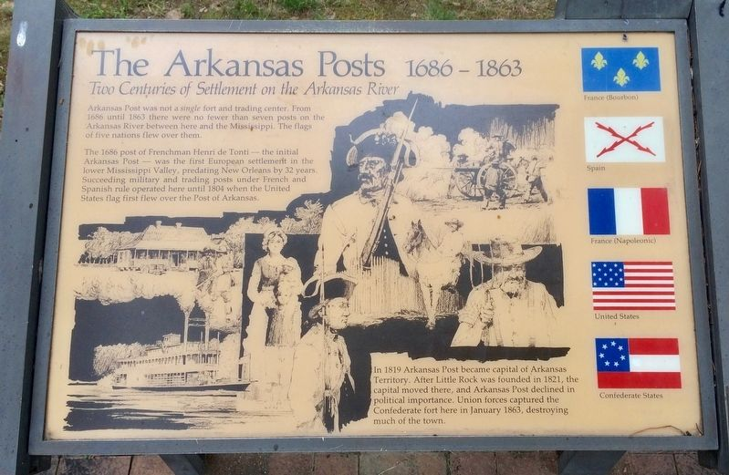 The Arkansas Posts Marker image. Click for full size.