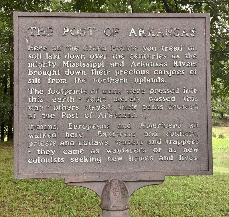 The Post of Arkansas Marker image. Click for full size.